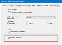 Rendre le rapport anonyme